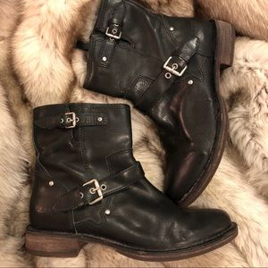 NEW! Ugh leather hard sole motorcycle boots